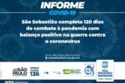 São Sebastião completa 120 dias de combate à pandemia com balanço positivo na guerra contra o coronavírus