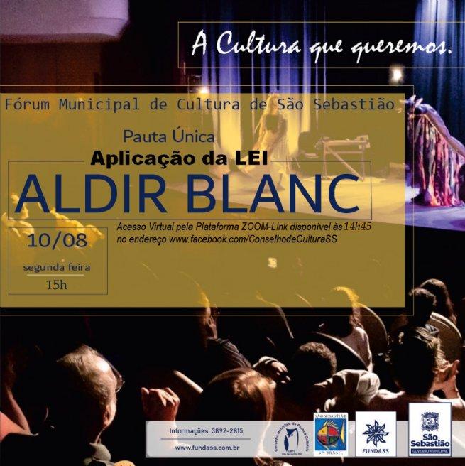 São Sebastião se prepara para receber recursos pela Lei Aldir Blanc voltada a artistas, fazedores de cultura e espaços culturais independentes