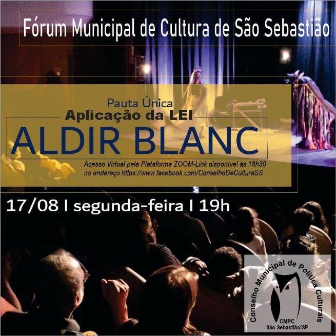 Prefeitura e CMPC-SS realiza Fórum de Cultura para discutir sobre a aplicação da Lei Aldir Blanc no município