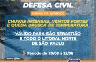 Fortes chuvas ocasionam alagamentos em comunidades da Costa Sul de São Sebastião