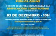 Prefeitura realiza audiência pública on-line para debater Lei de Edificações de São Sebastião