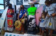 Surf feminino sebastianense brilha no pódio do Quiksilver Estadual de Clubes