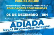 Prefeitura de São Sebastião adia realização de audiência pública sobre Lei de Edificações para atender maior público online