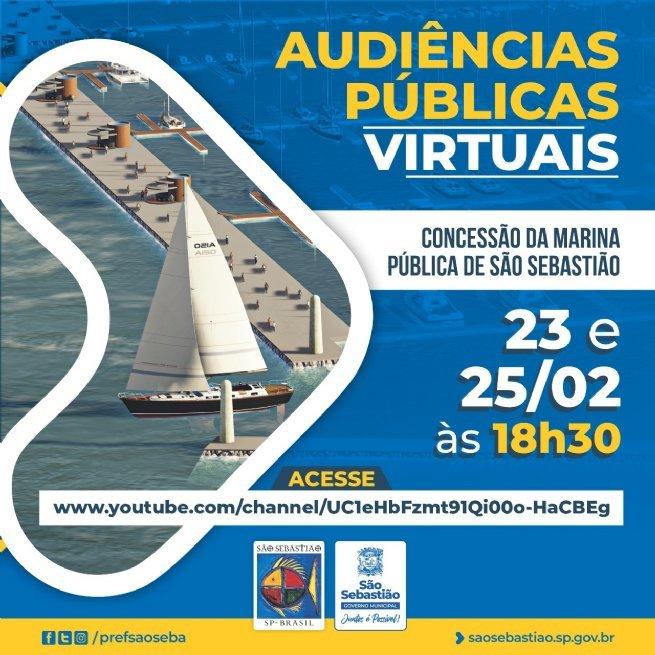 Audiências virtuais para concessão da Marina Pública de São Sebastião começam amanhã