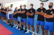 Policiais Militares de São Sebastião passam por avaliação física realizada pela Secretaria de Esportes