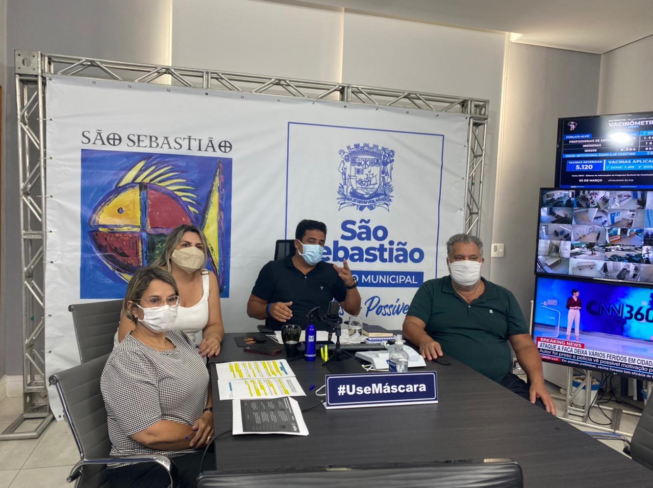 São Sebastião seguirá plano do governo estadual e retornará à fase vermelha