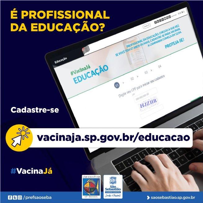 São Sebastião se prepara para vacinar profissionais da educação