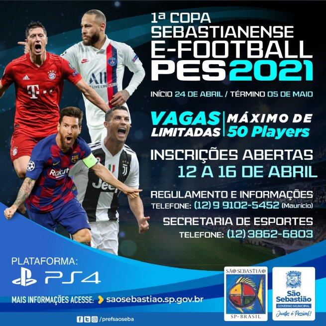Prefeitura realiza 1ª Copa Sebastianense E-Football PES 2021