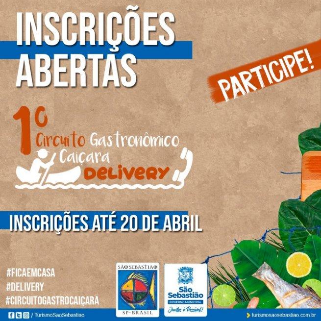 Inscrições para o 1º Circuito Gastronômico Caiçara Delivery encerram na terça-feira (20)