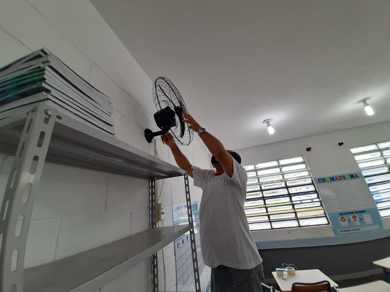 Prefeitura continua investindo na manutenção das escolas municipais de São Sebastião