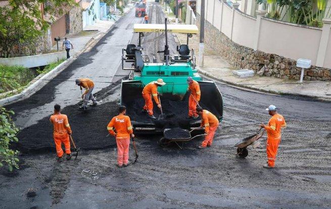 Prefeitura finaliza obras de pavimentação em ruas do bairro Portal da Olaria na Região Central