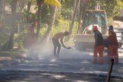 Prefeitura prossegue com obras de pavimentação em ruas dos bairros Cigarras e São Francisco