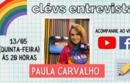 Em transmissão no YouTube e Facebook, Cléverton Santana entrevista a apresentadora Paula Carvalho, do Morning Show