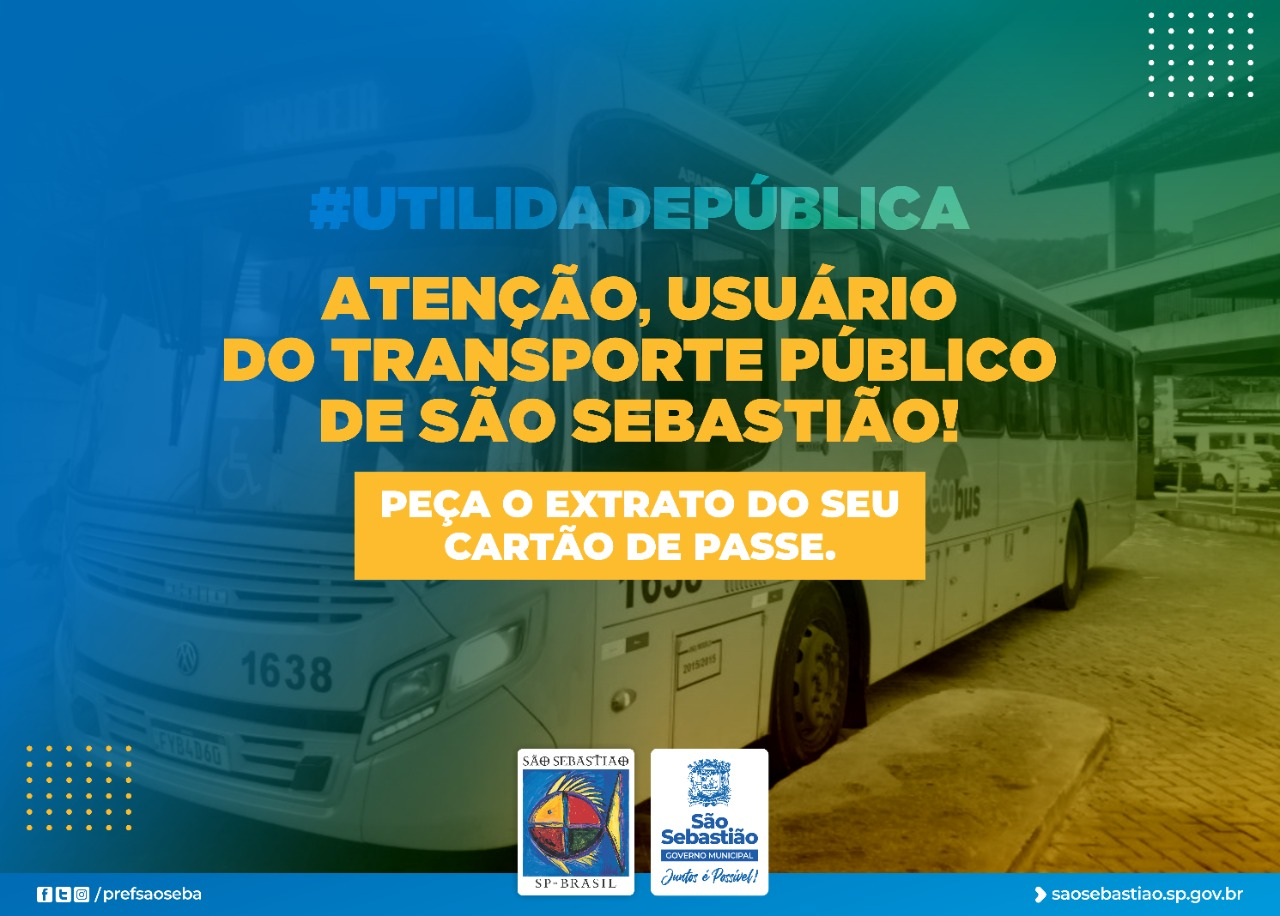 Usuários do transporte público de São Sebastião devem solicitar extrato de cartão de passe na Ecobus