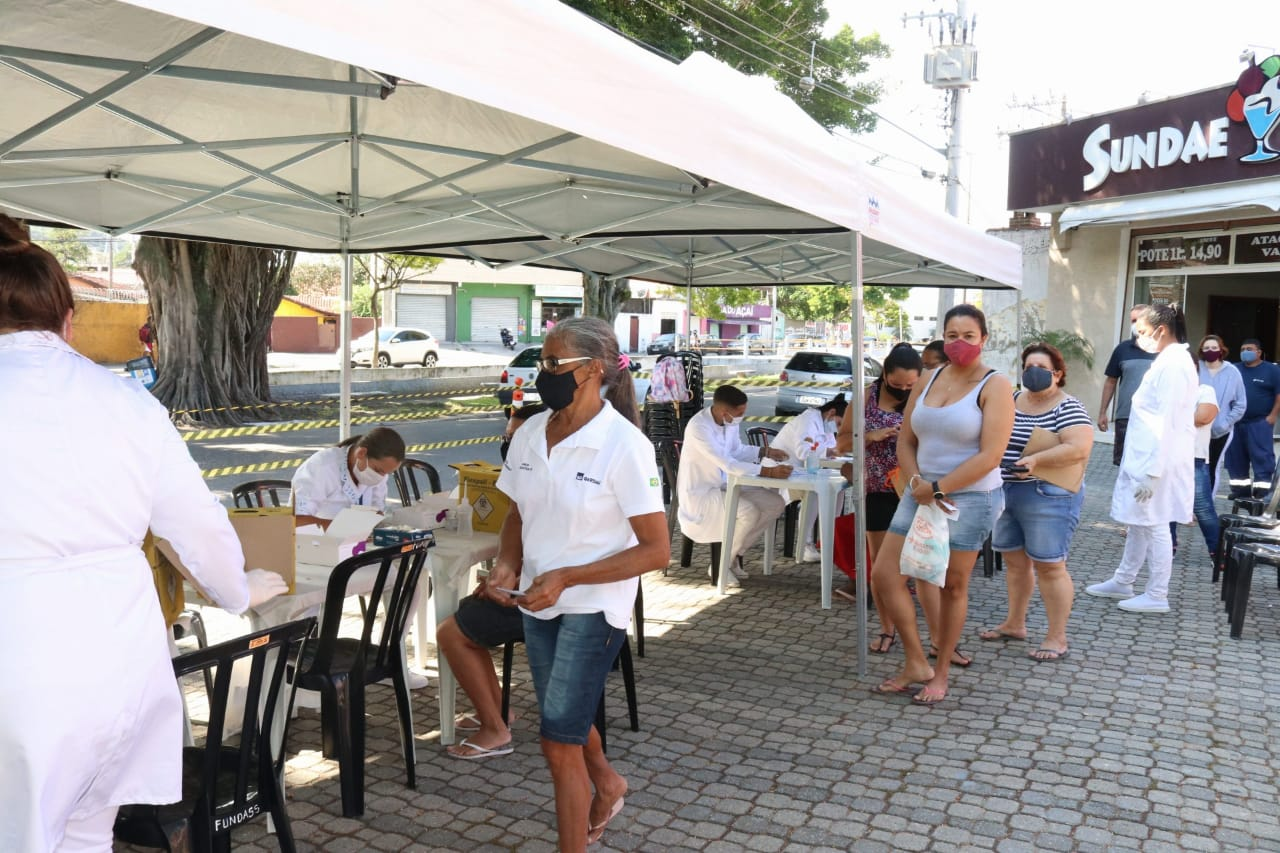 Prefeitura de São Sebastião realiza mais de 300 testes rápidos na Topolândia