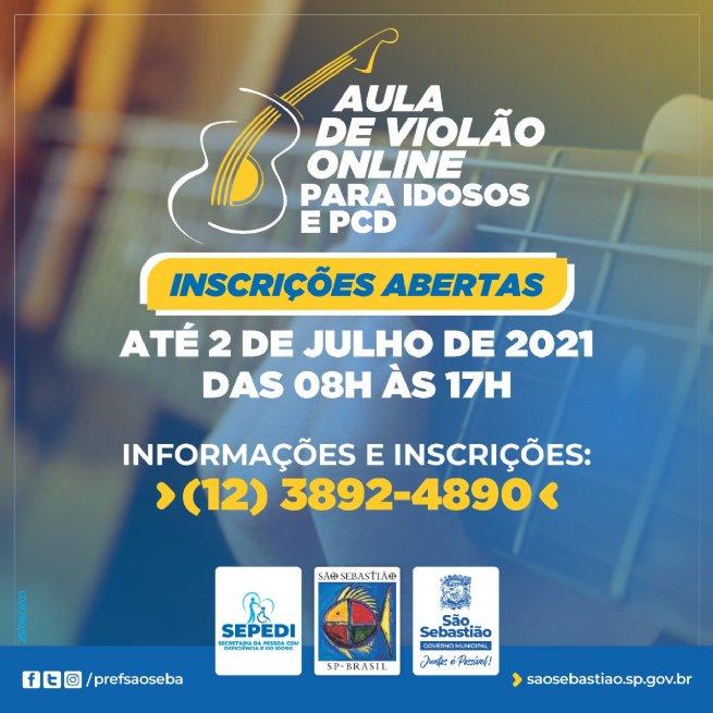 Prefeitura oferece aulas de violão gratuitas e online para idosos e Pessoas com Deficiência