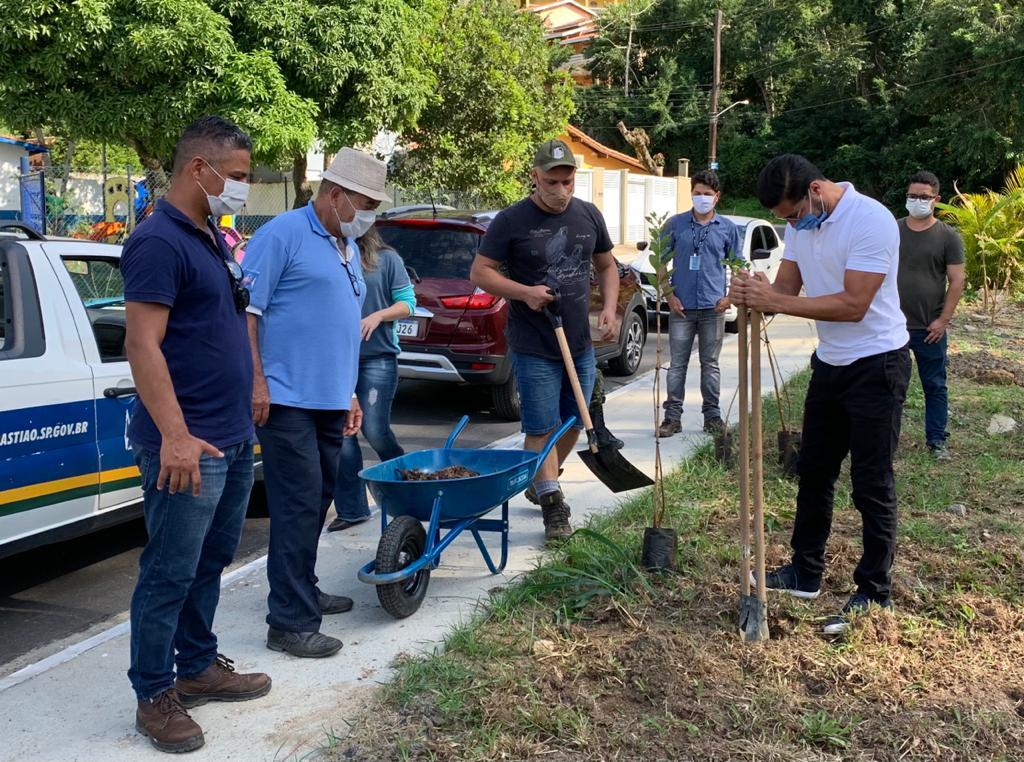 Prefeitura de São Sebastião e Associação Cigarras Viva realizam plantio na Semana do Meio Ambiente