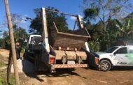 Fiscais ambientais autuam infrator por descarte irregular no Sitio Velho