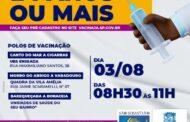 São Sebastião vacina contra Covid-19 pessoas com 24 anos ou mais nesta terça-feira (03)